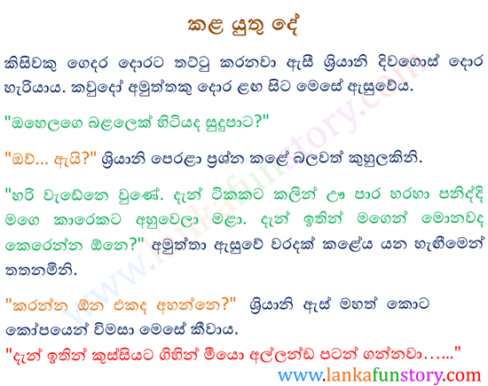 Sinhala Jokes-What to do