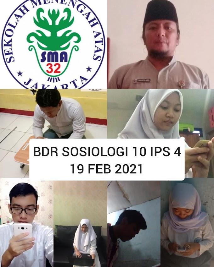 Sosiologi 10 IPS 4 (26 Februari 2021)
