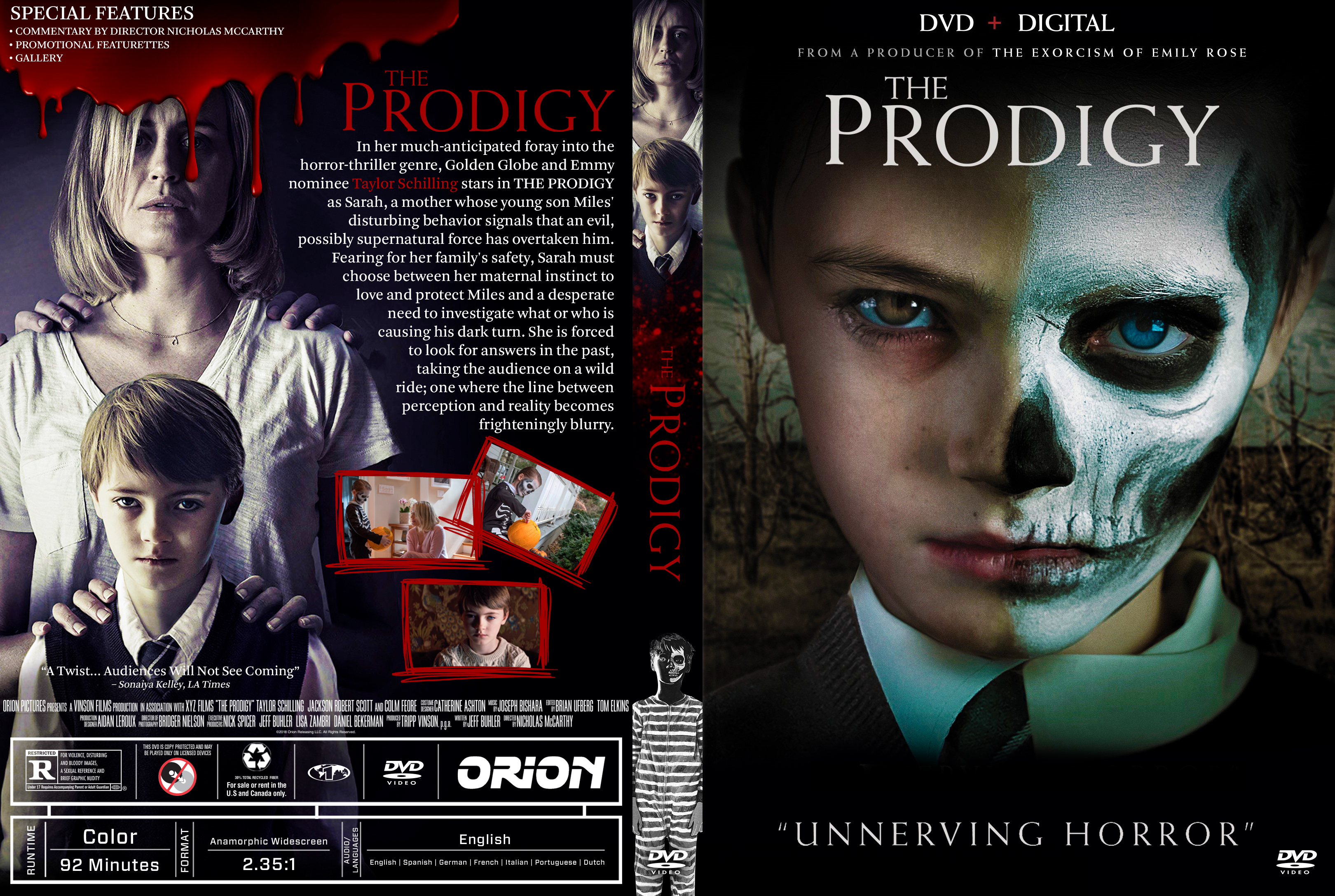 The Prodigy Dvd Cover Cover Addict Free Dvd Bluray Covers And Movie Posters