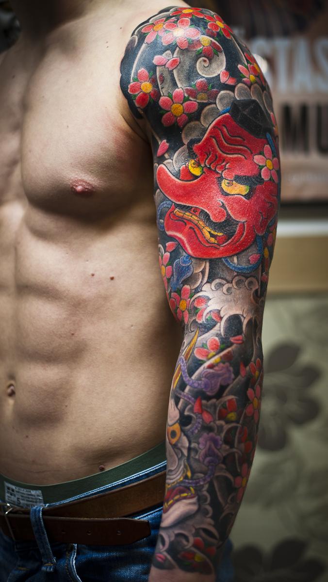 Patriot Tattoos Men Chirashi Scattering Of Masks By