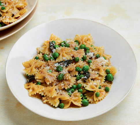 Farfalle with Brown Butter, Peas and Sage