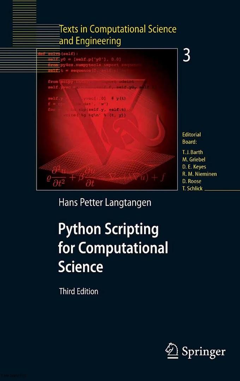 Python Scripting for Computational Science, Third Edition