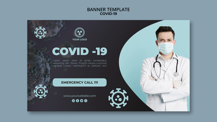 Banner Template With Covid-19