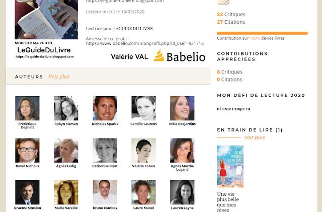 babelio profil