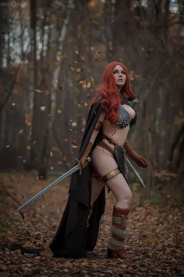 Milena Hime con su cosplay de Red Sonja