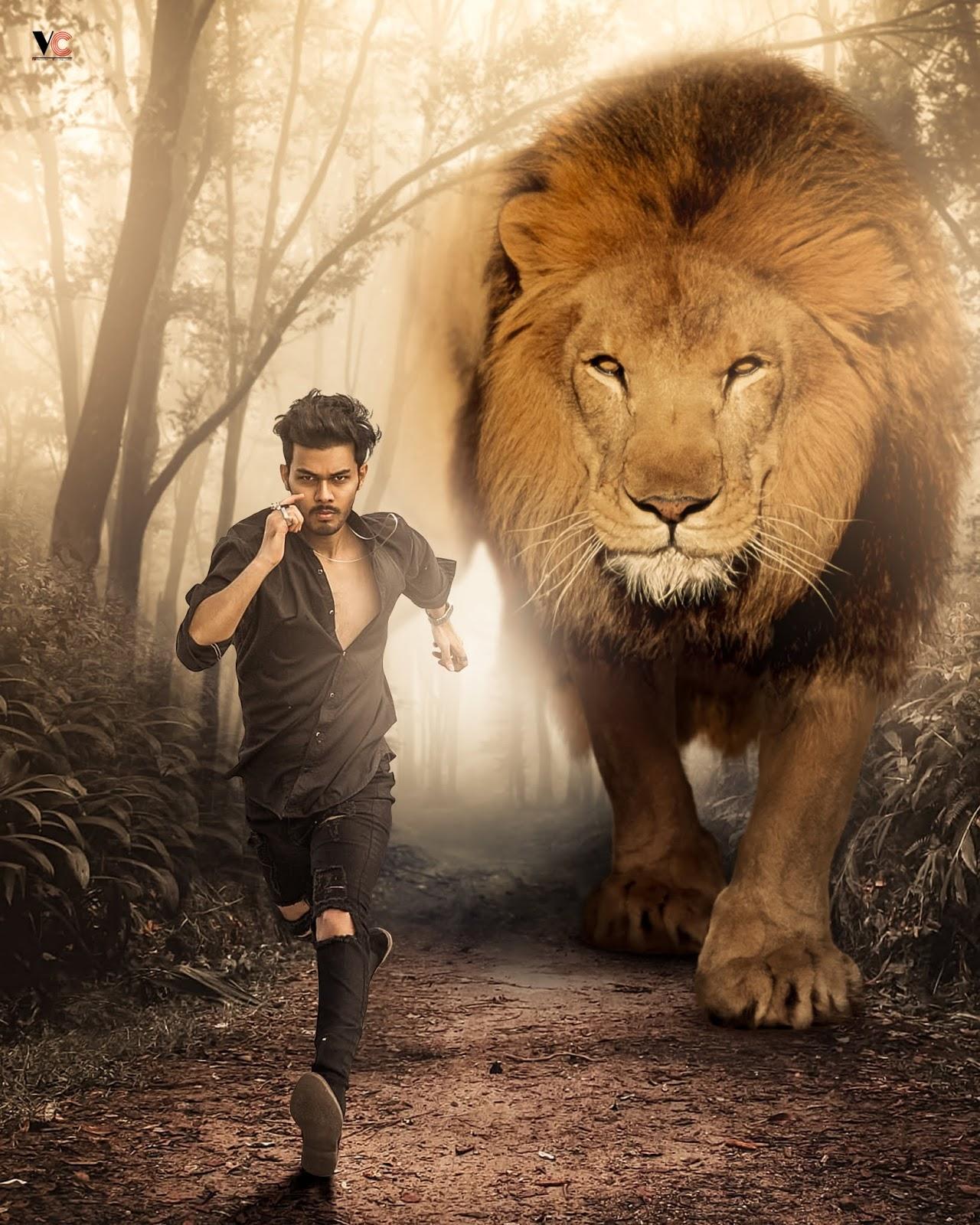 The Lion Picsart Photo Editing