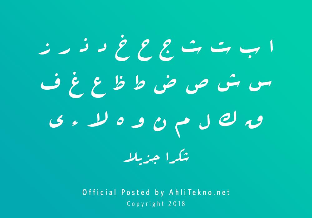 kumpulan font typography arabic keren (B Arabic Style)