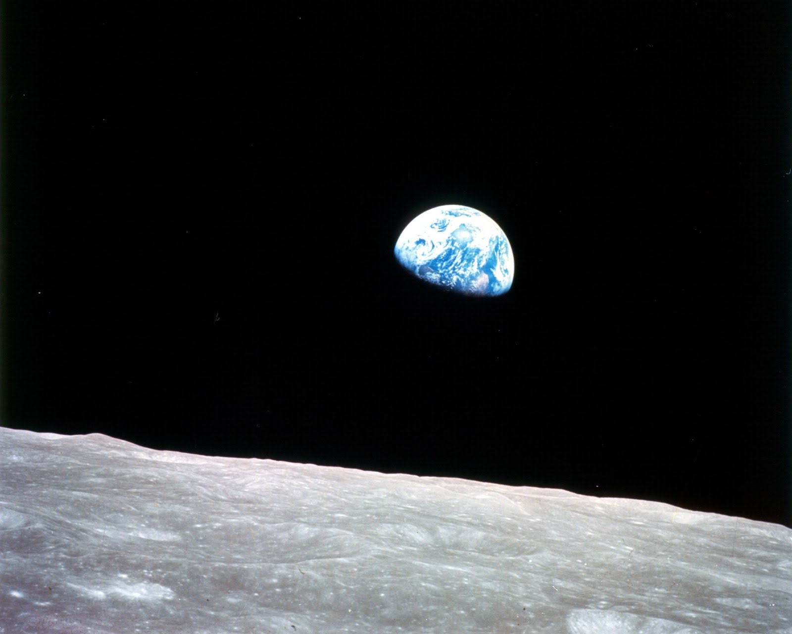 'earthrise' - nasa photograph; an icon of the nascent environmental movement of the early 1970s