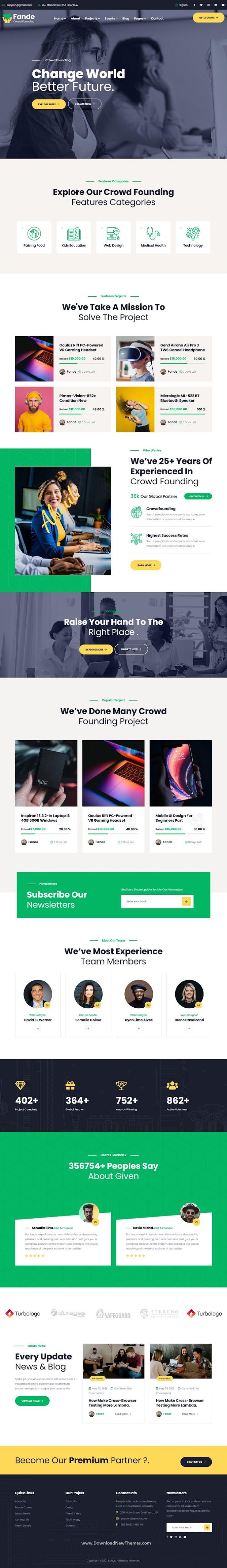 Crowdfunding & Charity WordPress Theme