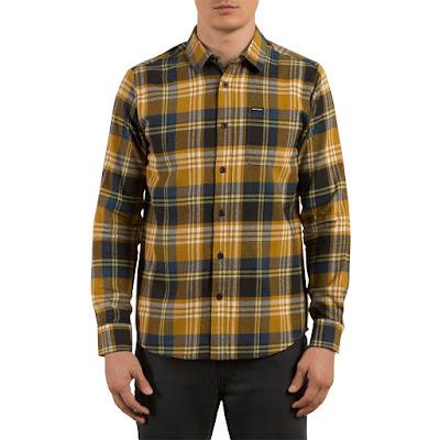 Ekoseli sarı renk gömlek