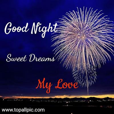 good night sweet dreams with love photo