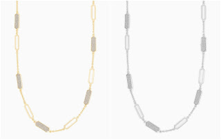 Charming Charlie Geo Stardust Long Necklace 2 for $7 (reg $15 each)