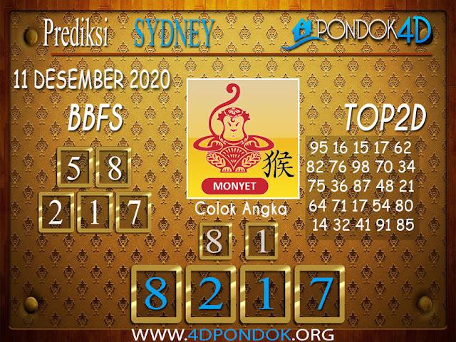 Prediksi Togel SYDNEY PONDOK4D 11 DESEMBER 2020
