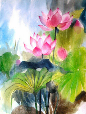lotus watercolour