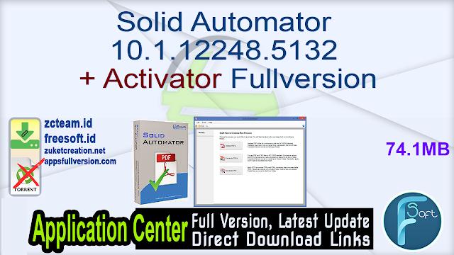 Solid Automator 10.1.12248.5132 + Activator Fullversion