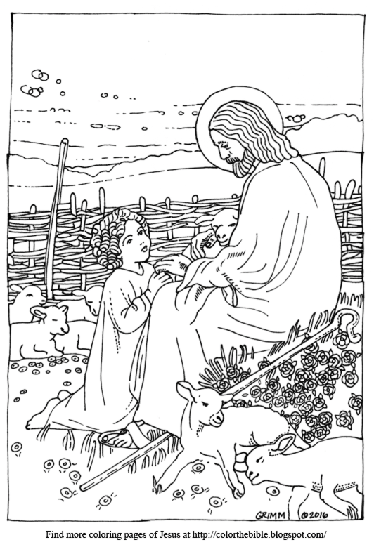 Jesus is the Good Shepherd coloring page | Free Printable Coloring ... | 779x532