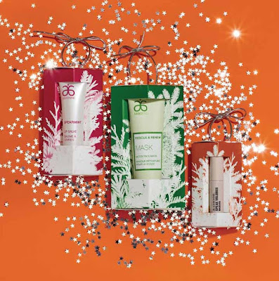 Arbonne Christmas Ornaments - mascara, lip treatment, clay mask