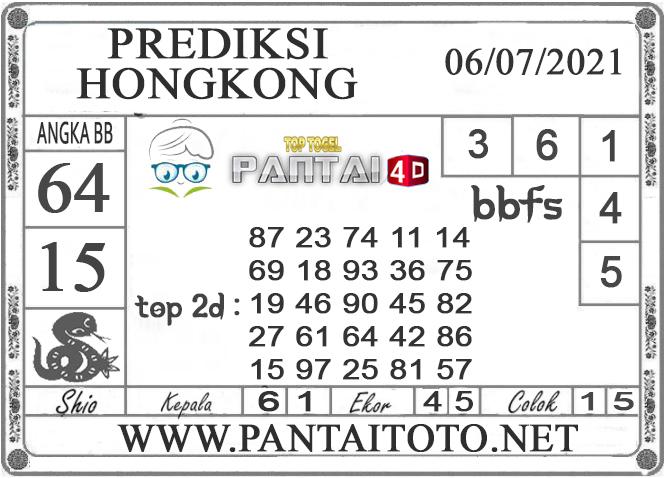 PREDIKSI TOGEL HONGKONG PANTAI4D 06 JULI 2021