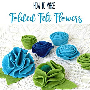 How to Make folded Felt Flowers