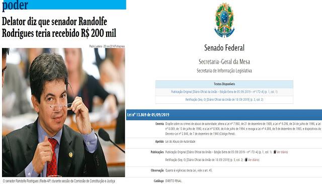 A evolução da corrupção e o senador que articulou a Lei de Abuso de autoridade para proteger a si e a comparsas da suja política do Brasil