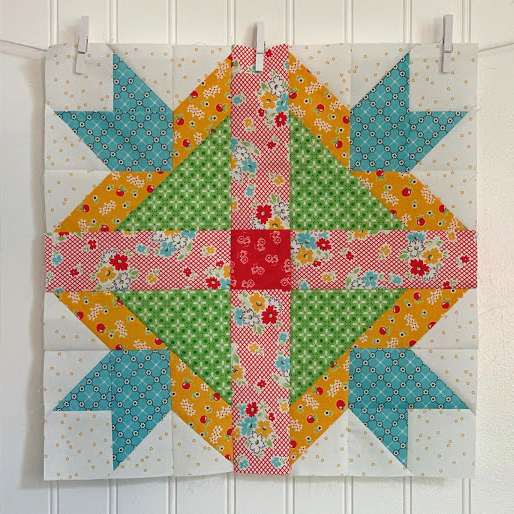 Family Reunion Quilt Block designed by by Lori Holt of Bee in my Bonnet