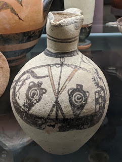 Bronze Age Cyprian jar with ship image