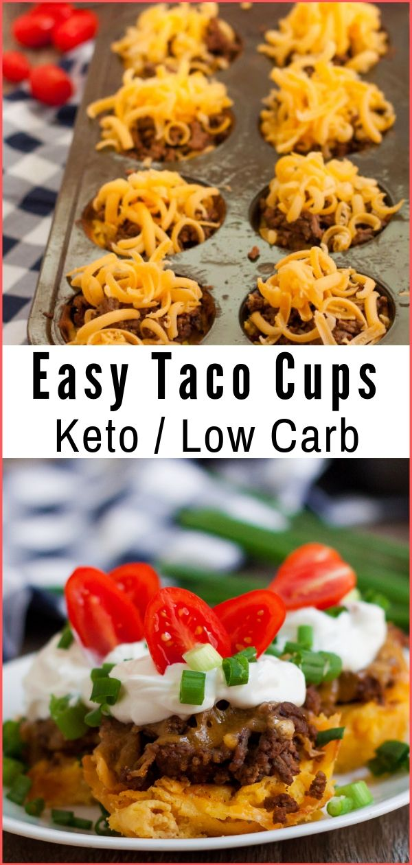 Low Carb Taco Cups (Keto Friendly)