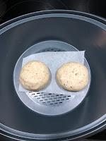 Banh bao végétariens à la ratatouille avant cuisson dans Thermomix (brioches vapeur)