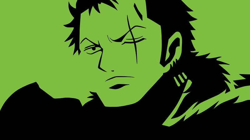 zoro memiliki rambut warna hijau