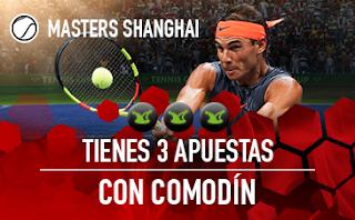 sportium Masters tenis Shanghai 2018: 3 Apuestas con Comodín