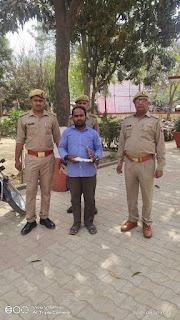 अवैध तमंचा व कारतूस के साथ युवक गिरफ्तार   #NayaSaberaNetwork