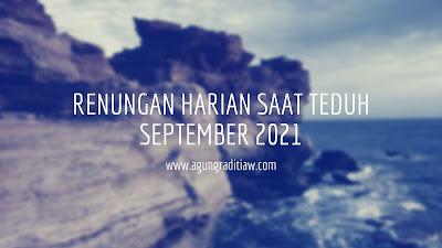 Renungan Santapan Harian 2021 September Untuk Saat Teduh
