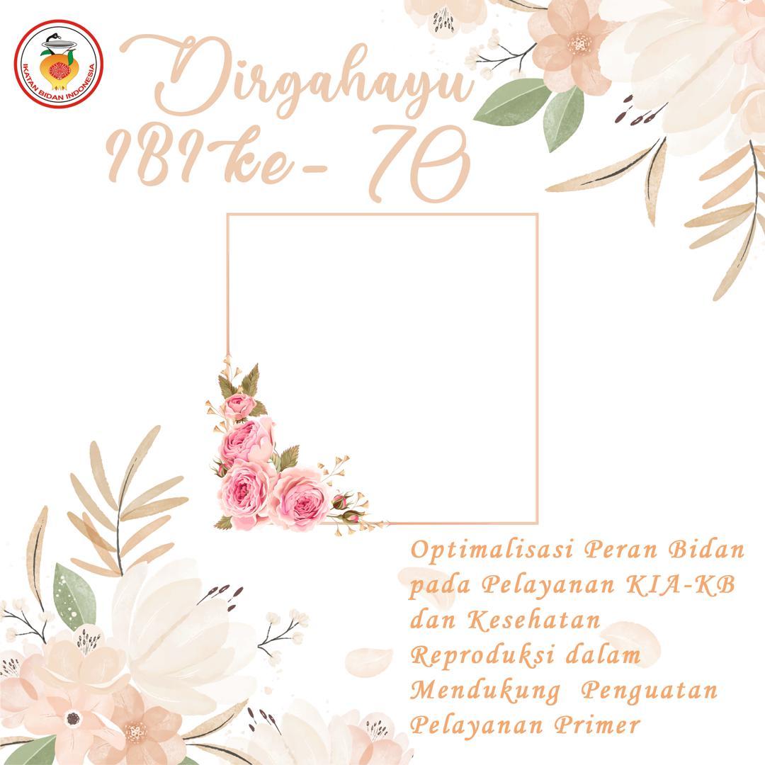 Link Download Bingkai Twibbon Dirgahayu IBI ke-70 Tahun 2021 - Twibbonize