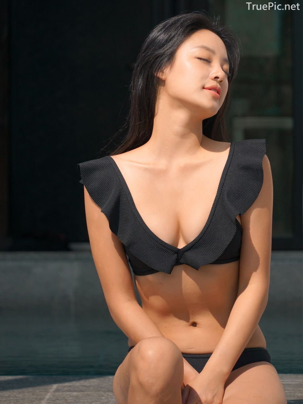 Korean model and fashion - Choi Seok Yeong - Alice Black and Blue Bikini - Picture 8