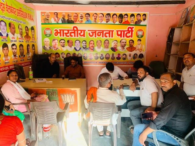 गौतमबुद्धनगर में भाजपा के 148 शक्ति केंद्रों पर उत्तर प्रदेश सरकार के साढ़े चार वर्ष पूर्ण होने पर चौपाल के कार्यक्रम आयोजित किए गए