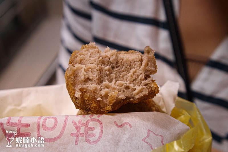 【寧夏夜市美食】劉芋仔蛋黃芋餅。寧夏夜市小吃扛霸子