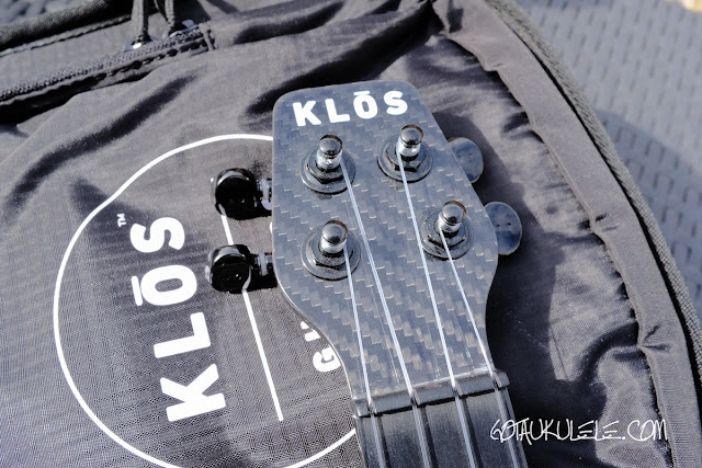 Klōs All Carbon Tenor Ukulele headstock