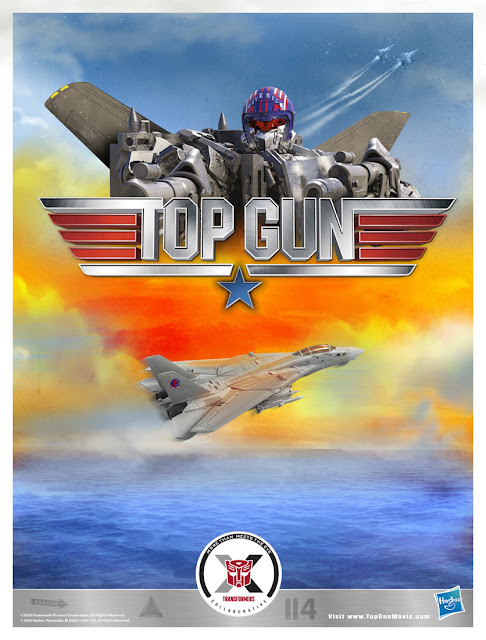 Hasbro Transformers x Top Gun Maverick Collab full poster