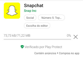 Como faço download do Snapchat
