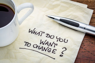 image of a napkin with the words penned on it, what do you want to change