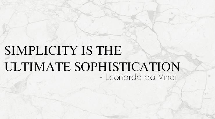 simplicity l minimalism l design l leonardo da vinci l quote