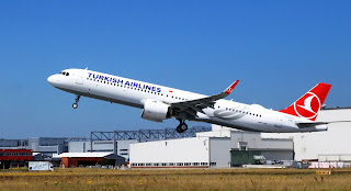 Airbus A321neo of Turkish Airlines Takeoff