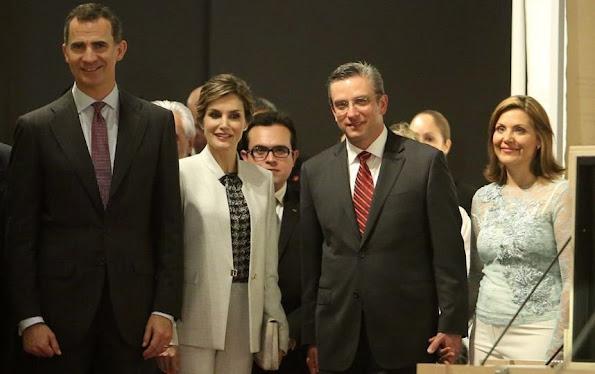 King Felipe VI And Queen Letizia Visit Museo de San Juan