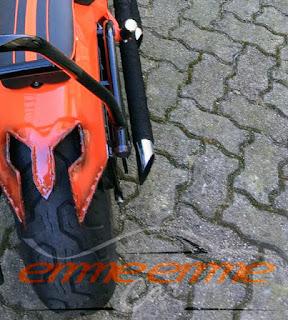 allungamento del codone posteriore - Honda shadow