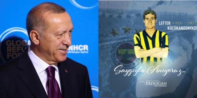 Ο Ερντογάν τίμησε τον Έλληνα «θρύλο» του τουρκικού ποδοσφαίρου!