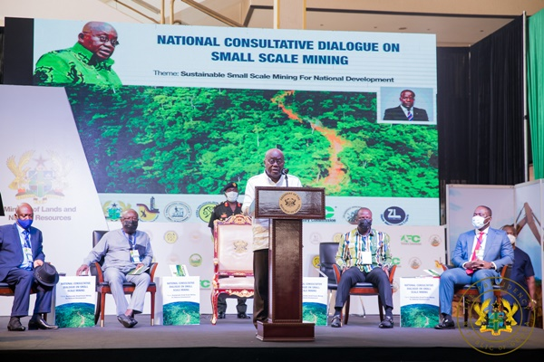 """National Consensus Must Promote Responsible, Viable Small-Scale Mining"" – President Akufo-Addo"
