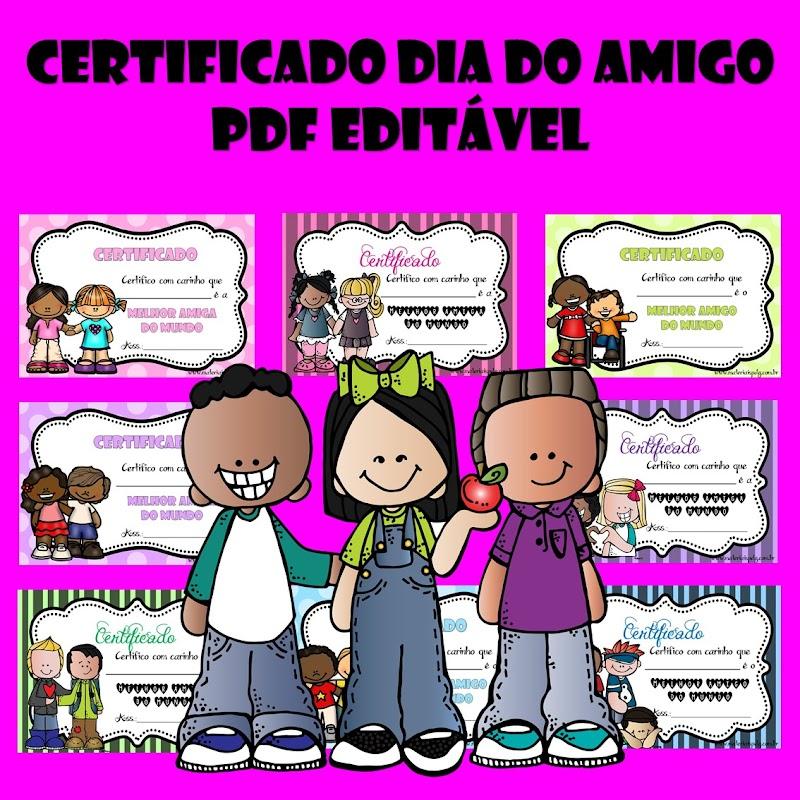 CERTIFICADO DIA DO AMIGO - PDF EDITÁVEL