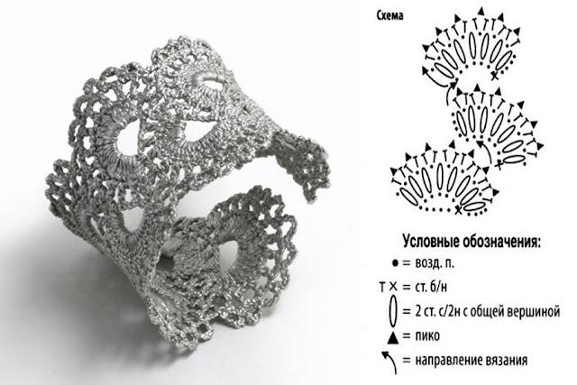 Bracciali Rigidi Uncinetto Schemi Gioielli Con Diamanti Popolari