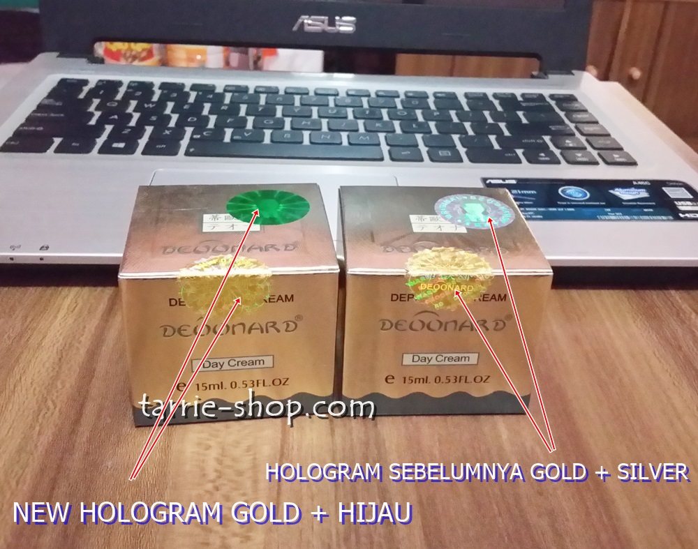 Hologram Original Deoonard Gold Silver Holo Silver Holo Hijau
