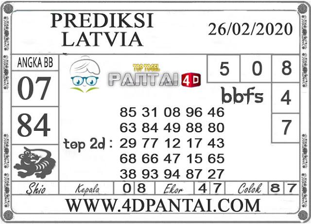 PREDIKSI TOGEL LATVIA PANTAI4D 26 FEBRUARI 2020